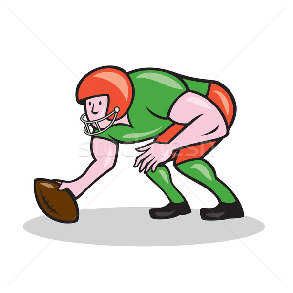 American Football Center Snap Side Cartoon Stock photo © patrimonio