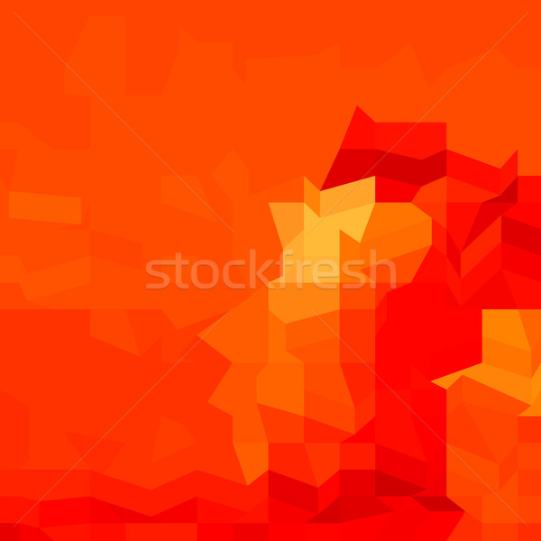 Red Robot Abstract Low Polygon Background Stock photo © patrimonio