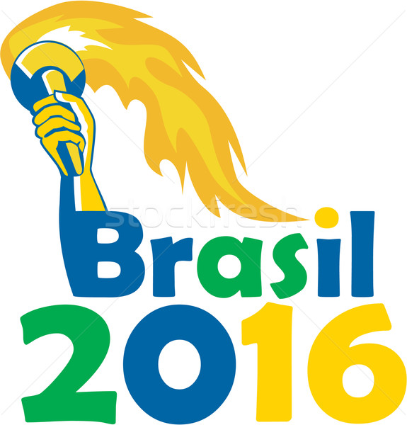 Brasil 2016 Summer Games Athlete Hand Torch Stock photo © patrimonio