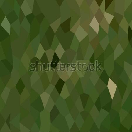 Jungle Green Abstract Low Polygon Background Stock photo © patrimonio