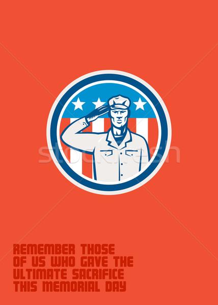 день американский солдата круга военных Сток-фото © patrimonio