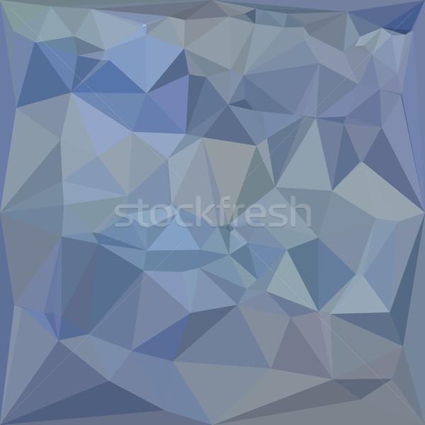 Lumière acier bleu résumé faible polygone Photo stock © patrimonio