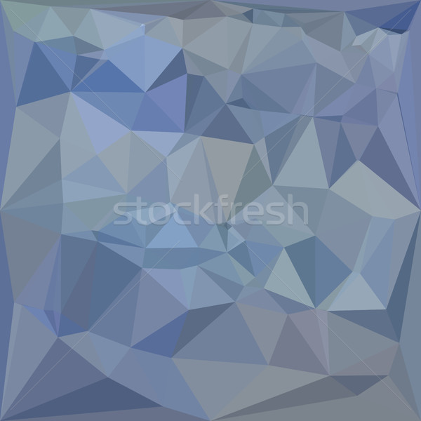 Luz aço azul abstrato baixo polígono Foto stock © patrimonio