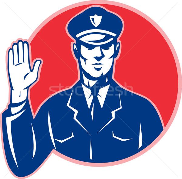 Police Officer Policeman Stop Hand Stock photo © patrimonio