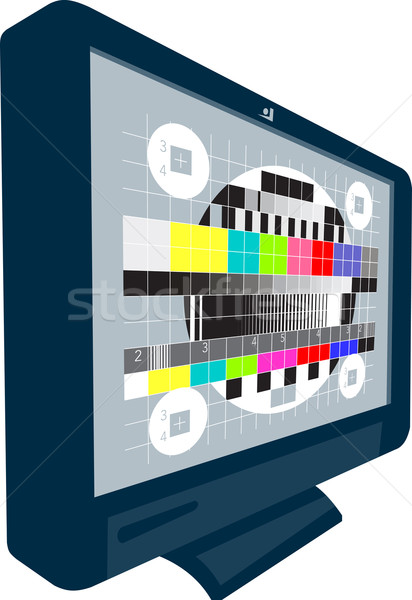 LCD osoczu telewizja telewizji test wzór Zdjęcia stock © patrimonio