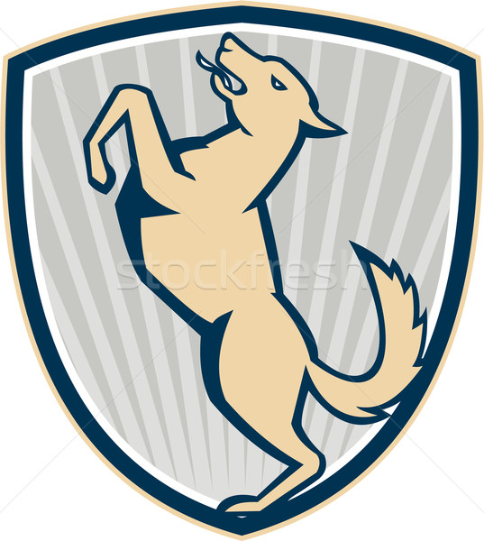 Prancing Dog Side Shield  Stock photo © patrimonio