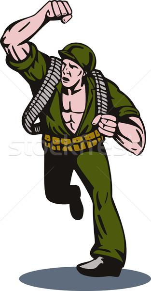 Soldier Running Punch Stock photo © patrimonio