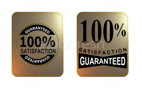 100 satisfação garantido ouro praça selar Foto stock © patrimonio