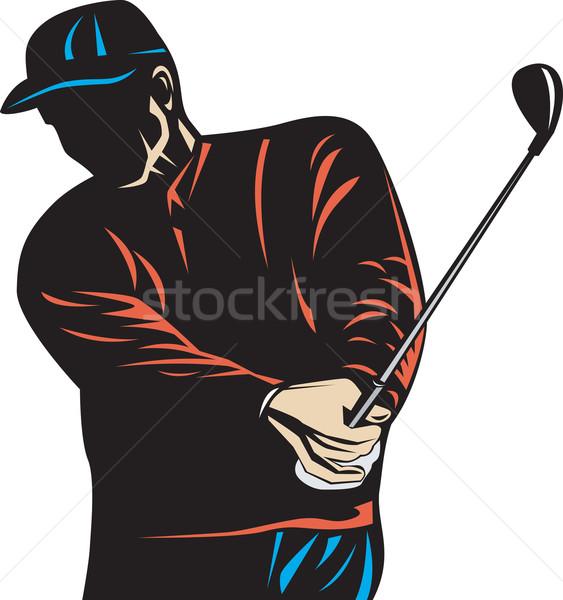 ゴルファー クラブ レトロな 実例 演奏 ゴルフ ストックフォト © patrimonio