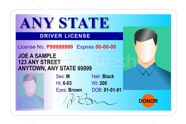 Male driver license isolated on white background Stock photo © patrimonio