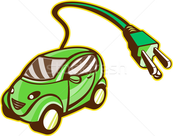 Plug-in Hybrid Electric Vehicle Isolated Stock photo © patrimonio