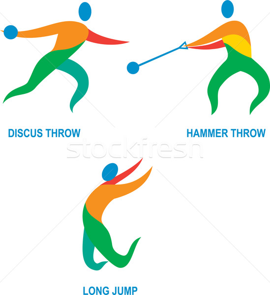 Hammer Throw Discus Throw Long Jump Icon Stock photo © patrimonio