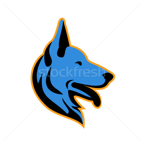 German Shepherd Dog Side Mascot Stock photo © patrimonio