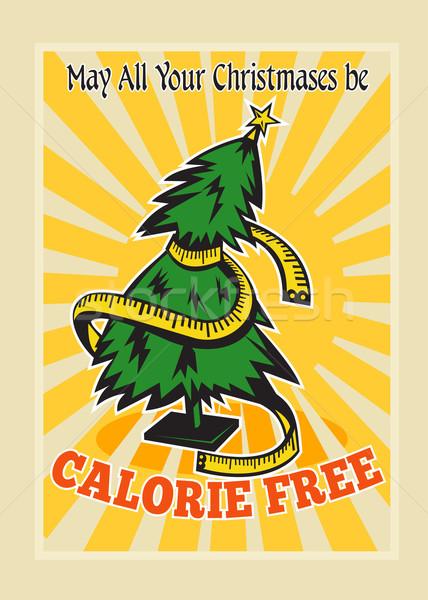 Calorie Free Christmas Tree Tape Measure Stock photo © patrimonio