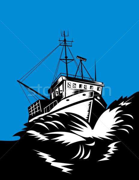 漁船 海 実例 レトロな ストックフォト © patrimonio