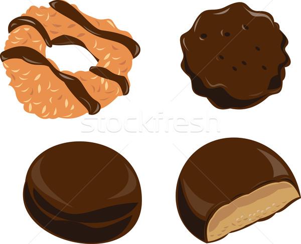 Kız izci kurabiye çikolata örnek retro tarzı Stok fotoğraf © patrimonio