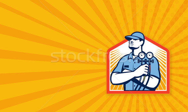 Refrigeration Air Conditioning Mechanic Front Stock photo © patrimonio