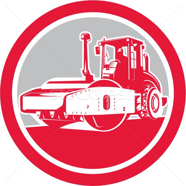 Road Compactor Circle Retro  Stock photo © patrimonio