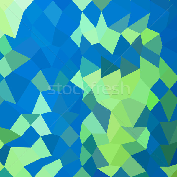 Dark Cyan Abstract Low Polygon Background Stock photo © patrimonio