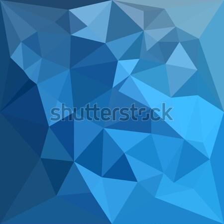 Clair de Lune Grey Abstract Low Polygon Background Stock photo © patrimonio