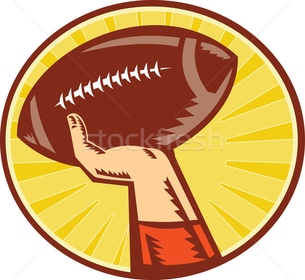 American Football Player Hand Catching Throwing Ball Stock photo © patrimonio