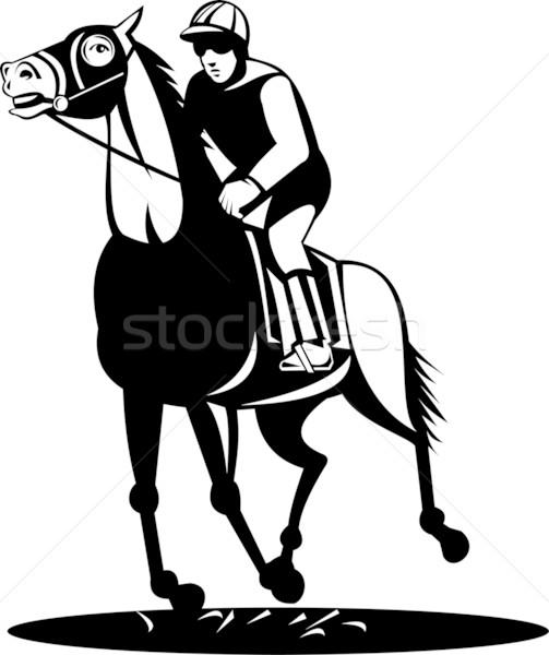 horse and jockey racing Stock photo © patrimonio