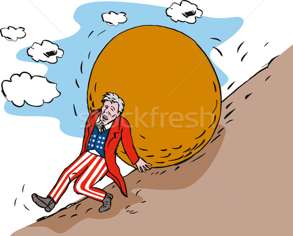 Uncle Sam with Boulder Stock photo © patrimonio
