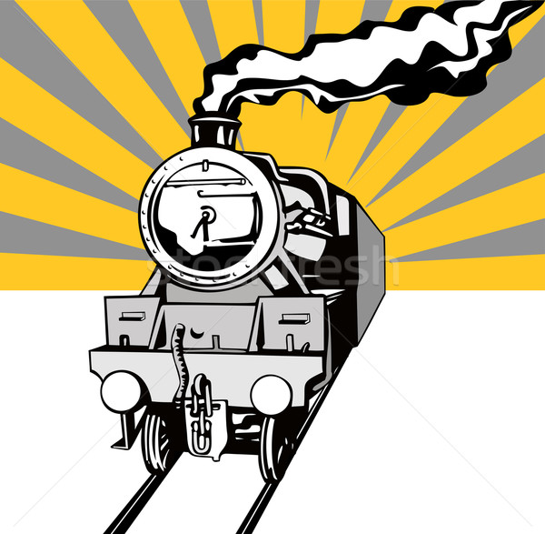Vintage Train Retro Stock photo © patrimonio