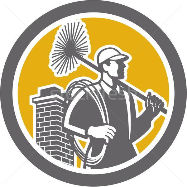 Chimney Sweeper Worker Retro  Stock photo © patrimonio