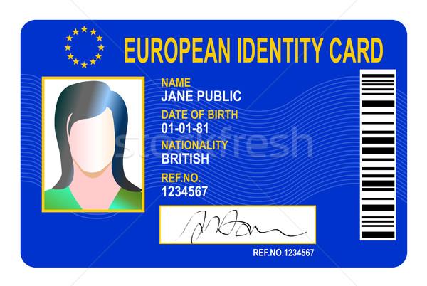 European identity card  Stock photo © patrimonio