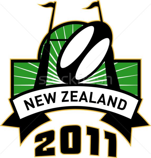 Rugby cel po piłka Nowa Zelandia 2011 Zdjęcia stock © patrimonio