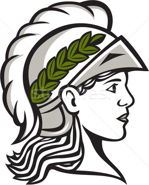Hoofd kant profiel retro illustratie Romeinse Stockfoto © patrimonio