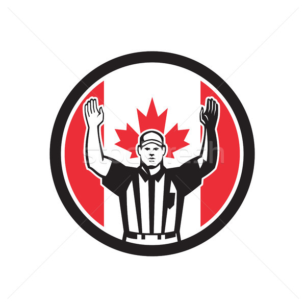 Canadian Football Referee Canada Flag Icon Stock photo © patrimonio