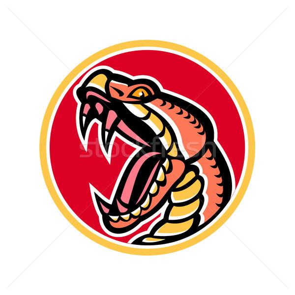 Copperhead Snake Mascot Stock photo © patrimonio