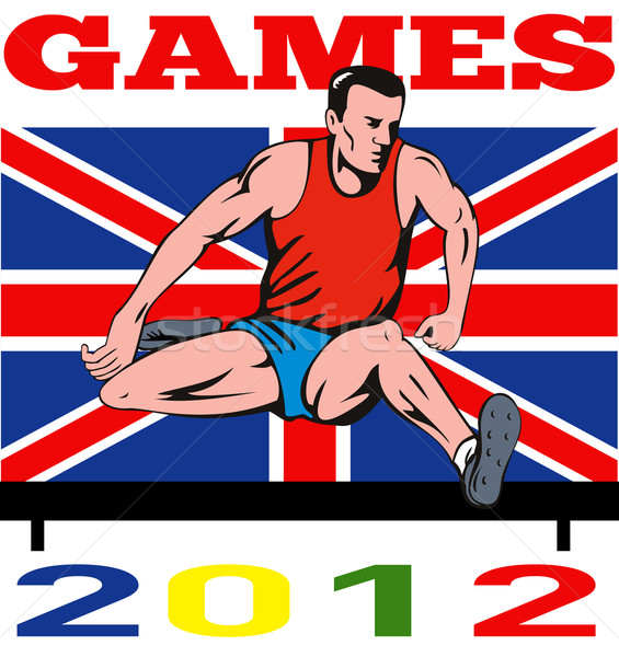 Games 2012 Track and Field Hurdles British Flag Stock photo © patrimonio
