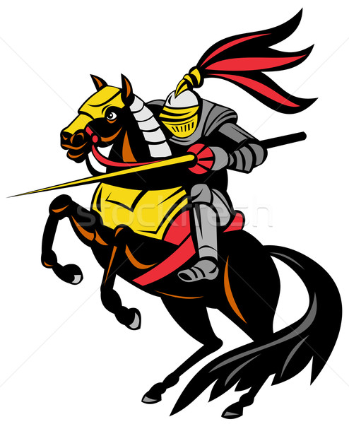 Knight on Horse with Sword Stock photo © patrimonio