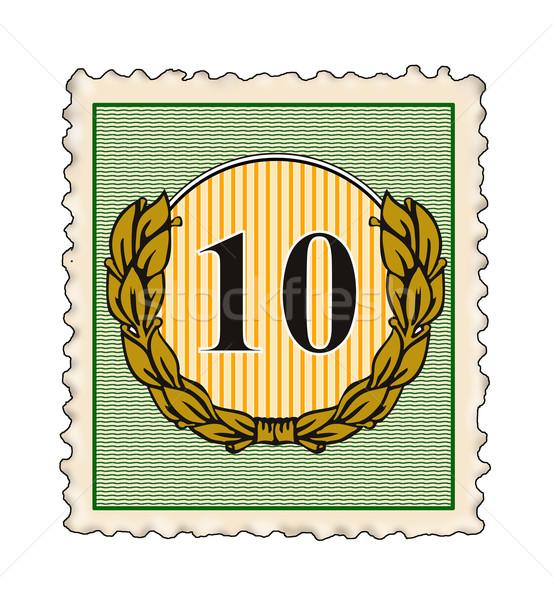 Número 10 sello ilustración establecer dentro Foto stock © patrimonio