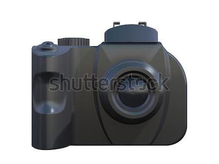 Dslr камеры изолированный белый 3d визуализации Сток-фото © patrimonio