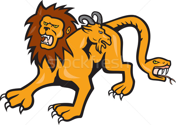 Chimera Attacking Front Cartoon Stock photo © patrimonio