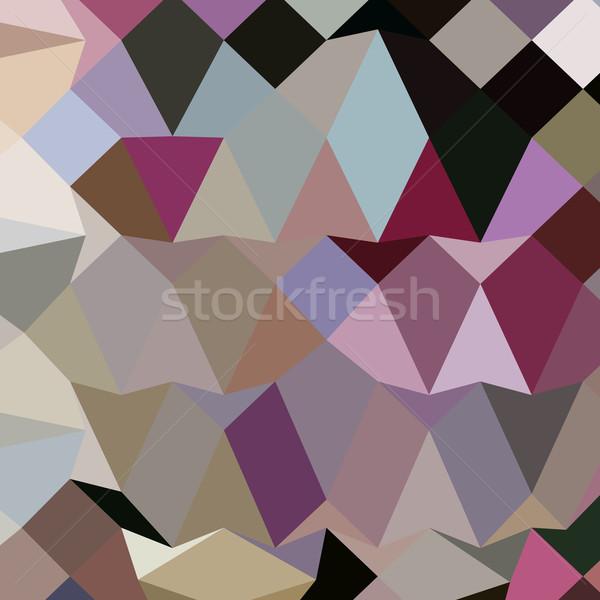 Antique Fuschia Abstract Low Polygon Background Stock photo © patrimonio