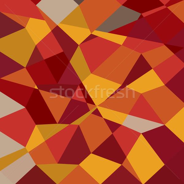 Carnelian Red Abstract Low Polygon Background Stock photo © patrimonio