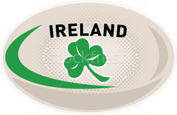 Rugby Ball Ireland Shamrock Stock photo © patrimonio