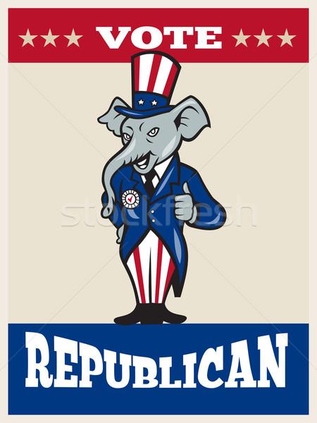 Republican elefant mascota SUA pavilion Imagine de stoc © patrimonio