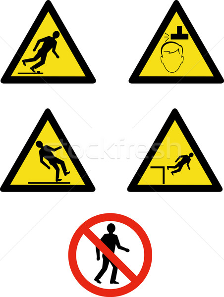 workplace sign slippery falling fall Stock photo © patrimonio