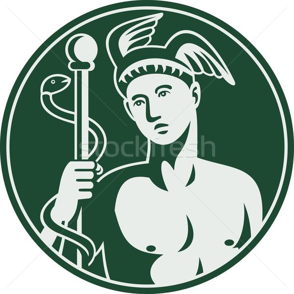 Greek God Hermes holding a caduceus  Stock photo © patrimonio