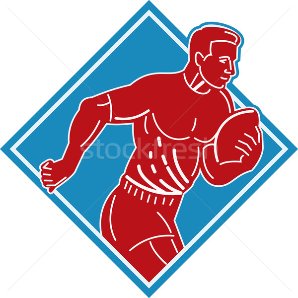 rugby player running with the ball  Stock photo © patrimonio