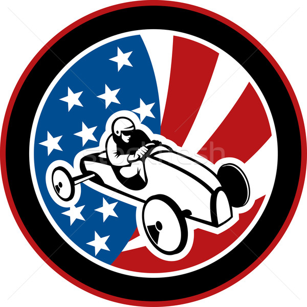 american Soap box derby car with stars and stripes Stock photo © patrimonio