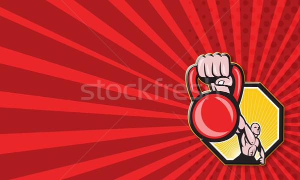 Physical Fitness Training Lifting Kettlebell  Stock photo © patrimonio