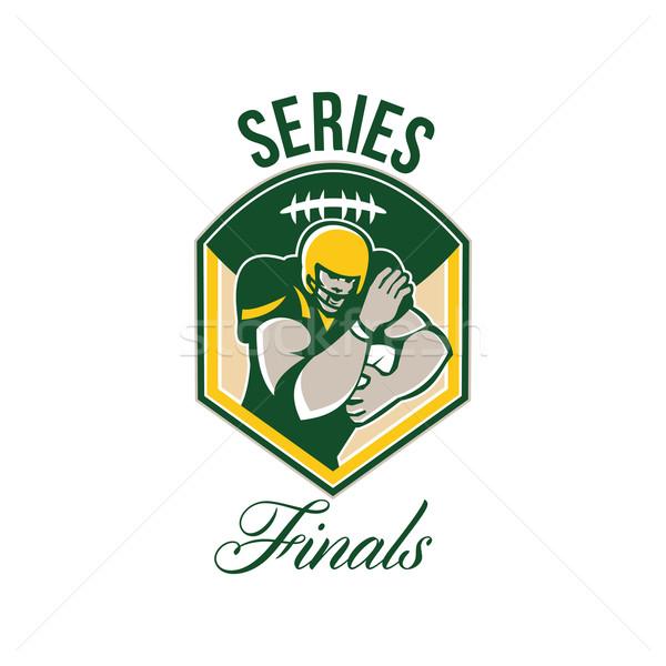 American Gridiron Running Back Series Finals Crest Stock photo © patrimonio