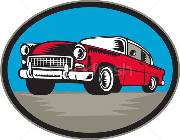 Vintage klassiek auto illustratie ingesteld Stockfoto © patrimonio